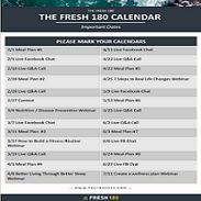 The Fresh 180 Calendar