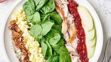 Recipe for Thanksgiving Salad | Turkey Cranberry Cobb
