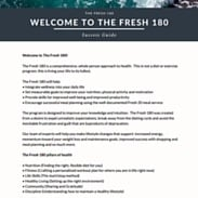 The Fresh 180 Welcome Letter