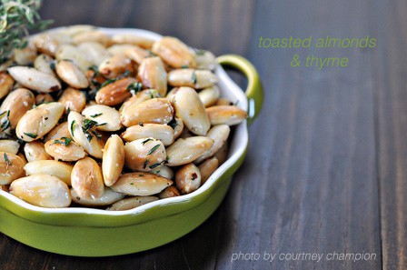 Vegetarian Party Food: Toasted Almond with Thyme | TheFresh20