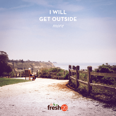 I will get outside more