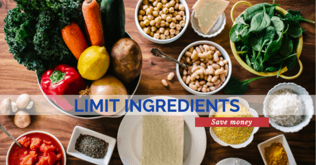Meal Prep Tip - Limit Ingredients