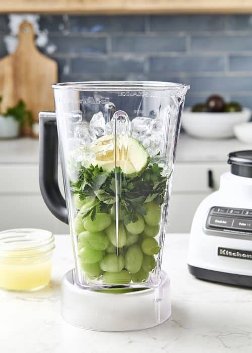 Top Summer Smoothies - Simple recipe using grapes, lemons and fresh parsley for a refreshing summer drink.