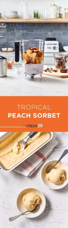 Tropical Peach Sorbert