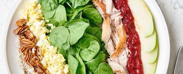 Recipe for Thanksgiving Salad   Turkey Cranberry Cobb Thumbnail