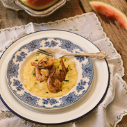 gluten free meal plans - shrimp polenta