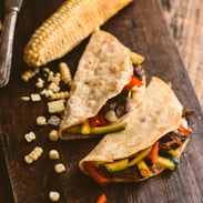 dairy free meal plans - steak and pepper tacos
