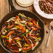 dairy free meal plans - steak fajitas