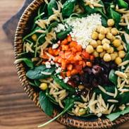 vegetarian meal plan - greek orzo salad