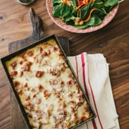 vegetarian meal plan - polenta bake
