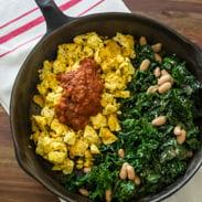 vegetarian meal plan - tofu scramble